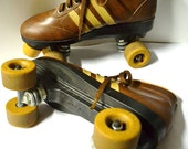 Vintage Colt Rollerskates Beautiful Nutmeggy Brown Color Great Condition