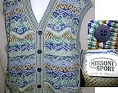 Authentic Vintage Missoni Sweater Jumper Vest Blue large