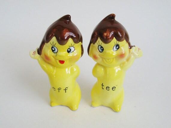 Ice Cream Elves Salt &Pepper Shakers - Tee and Eff - Tastee Freez Ice Cream