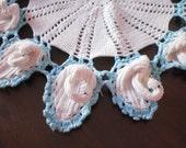 vintage round crochet doily