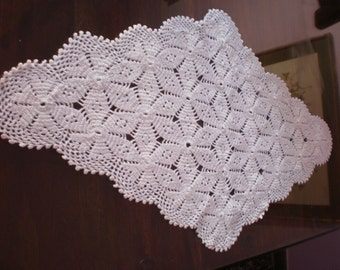 set of 2 crochet doilies