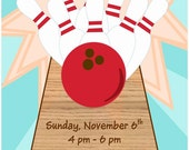 Strike Up Some Fun - Children's Bowling Party Invitation - You Print