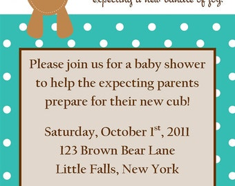 Beary Cute Baby Shower Invitation (Boy, Girl, or Neutral)