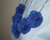 Blue Garden Pinks Necklace