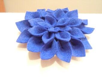 Blue Dazzling Dahlia Brooch