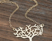 TREE Pendant 14K Gold Filled Necklace