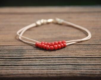 Simply Red Bracelet