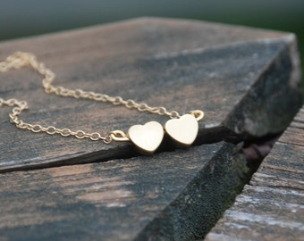 We Are In Love--Two Heats 14K Gold Filled Necklace