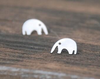 Silver, Elephant Stud Earrings, Sterling Silver Posts, Lovely, Tiny, Elephant posts, Elephant earrings, birthday gift, sweet 16 gift