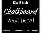 Blackboard - Chalkboard Vinyl Decal Set