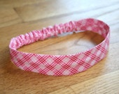 contemporary baby headband Picnic in the Park Pink