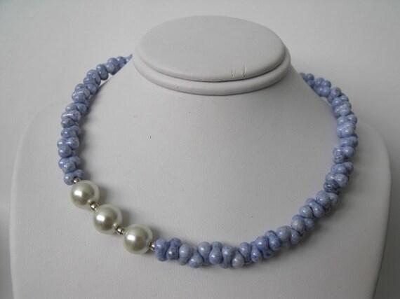 Czech Glass Swarovski Pearl Necklace