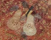 Art Quilt - Fruitful Pears