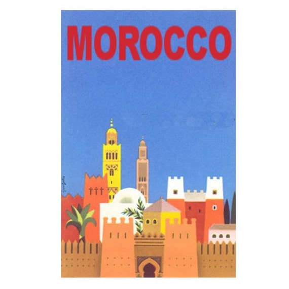 MOROCCO 6- Handmade Leather Wall Hanging - Travel Art