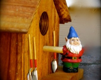 My Little Red Gnome Birdhouse