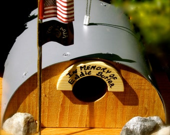 Custom Listing - SALE - Quonset Hut Birdhouse - Support Our Troops