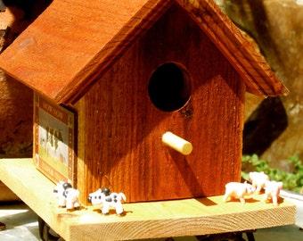 Farmhouse Animals Birdhouse