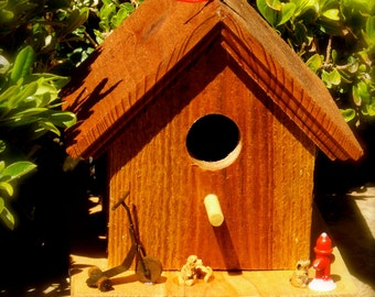 """Title:  """"Temptation""""  Birdhouse"""