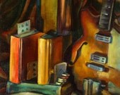 WHO NEEDS T.V archival print of original oil painting