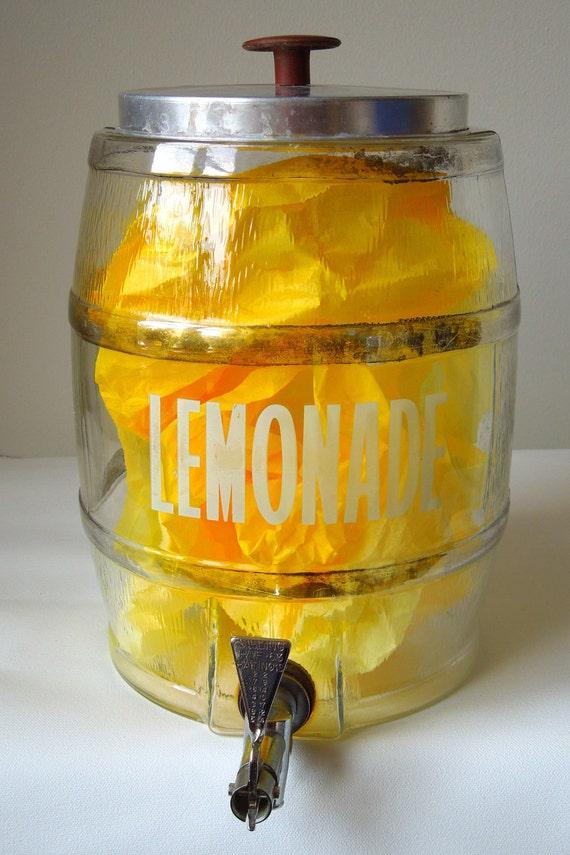 RESERVED for Theresa G  Vintage Glass Lemonade Dispenser