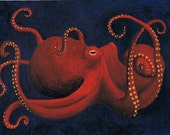 Octopus Art Postcard