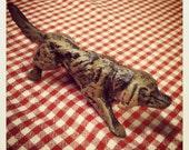 SALE Vintage Cast Iron Pointer Dog Paperweight/Figurine