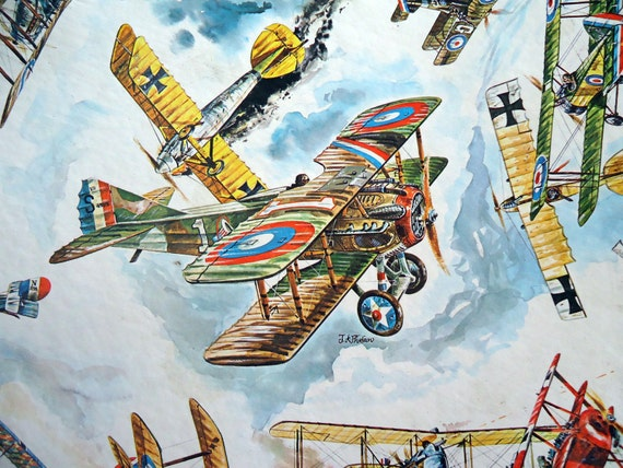 Reserved Listing - Vintage Fighter Planes Puzzle