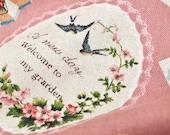 KOKKA Love Letter Motifs in Vintage Pink  ( Half Yard )