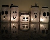Halloween Ghost Votive Jars