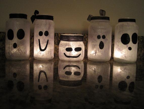 Halloween Ghost Votive Jars