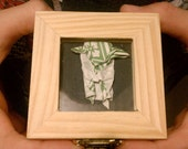 Origami Yoda wooden trinket box