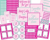 ON SALE- Limited Time- Spa Collection PDF Printable set featured on Hostess With The Mostess Party of Five