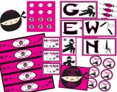 Ninja Birthday Party PDF Printable Package for Boy or Girl