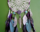 Dream Catcher - Doily - Purple and Blue - Modern - Large - Hippie