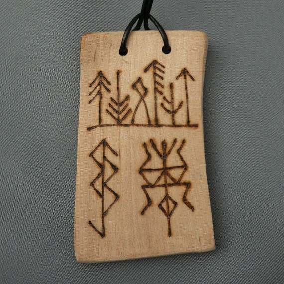 Birch Pendant Talisman RESERVED FOR Kelly (Ikequeen)