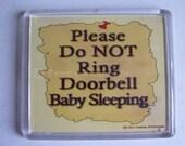 Do Not Ring Doorbell Sign Baby Sleeping Note