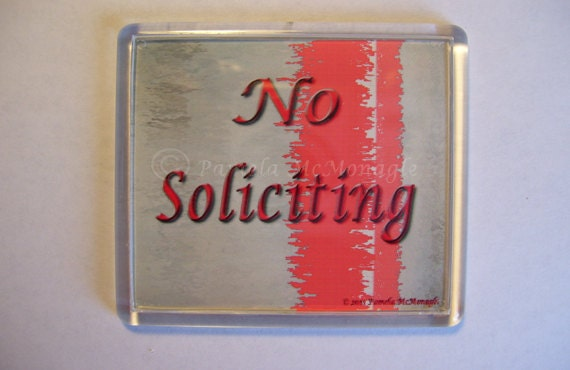 Doorbell Sign for No Soliciting