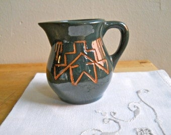 Sioux Pottery Creamer Signed Swift Eagle