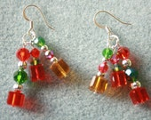 Celestial Crystal Beaded Holiday Dangle Earrings