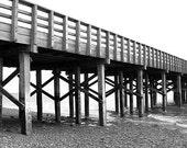 black and white wooden bridge 11x14 print