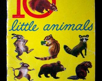 Children's Book - 10 Little Animals - 1961