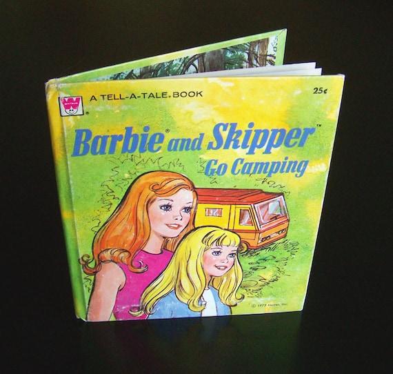 Vintage Children's Book - Barbie and Skipper Go Camping - 1973
