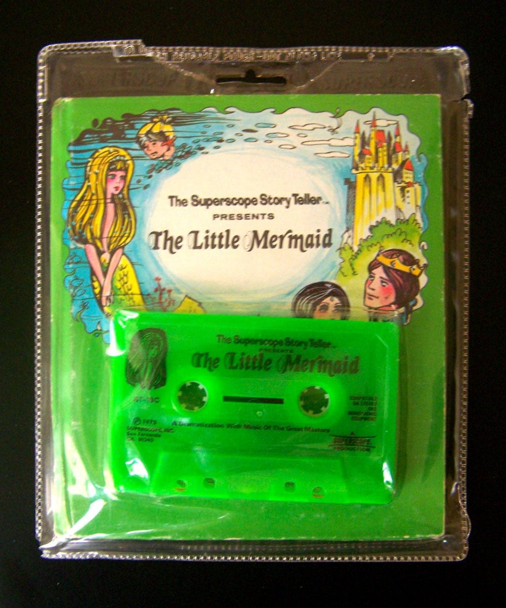 Vintage Kids Book and Tape The Little Mermaid with