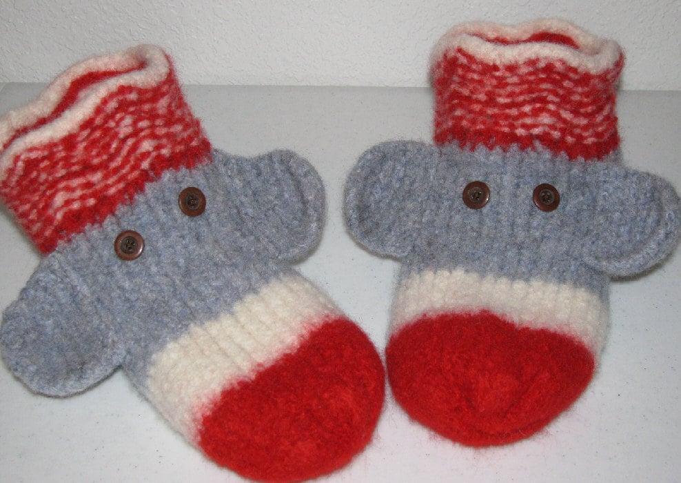 Knifty Knitter Pattern Sock Monkey Slippers Boye Knitting