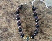 black swaroski crystal bracelet