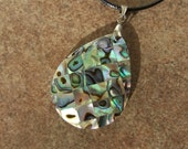 abalone inlay on mother of pearl necklace