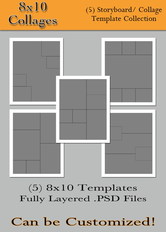 items similar to 8x10 collages 5 custom photo. Black Bedroom Furniture Sets. Home Design Ideas