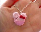 Pink Minnie Mouse Macaroon Necklace