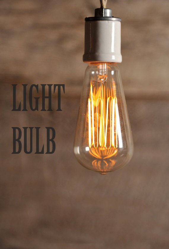 60w Edison Style Bulb 3000 Hour Lifespan Exposed Filament