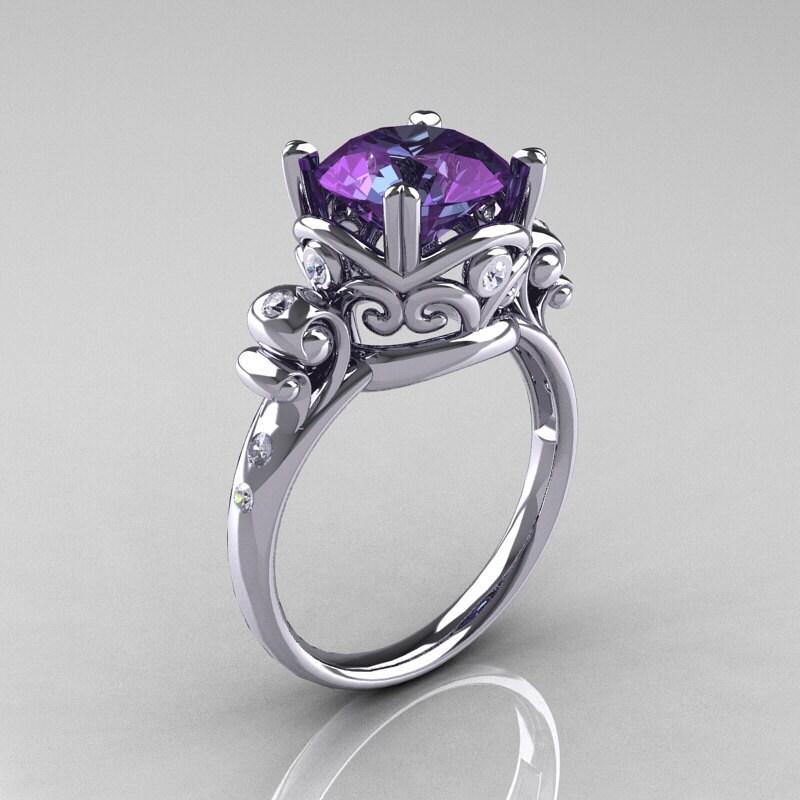 zoom - Alexandrite Wedding Ring